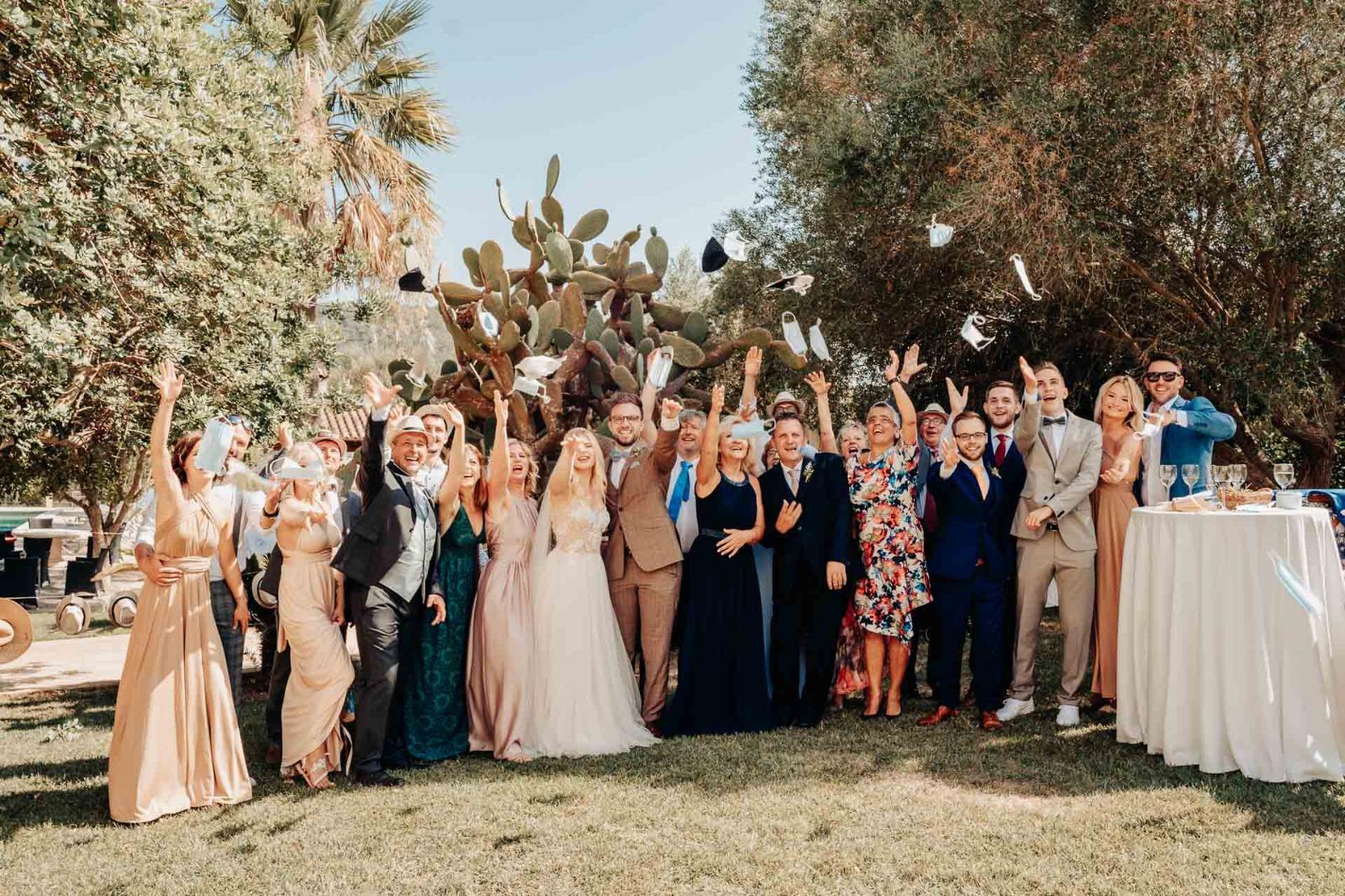Hochzeit ohne Maske auf Mallorca