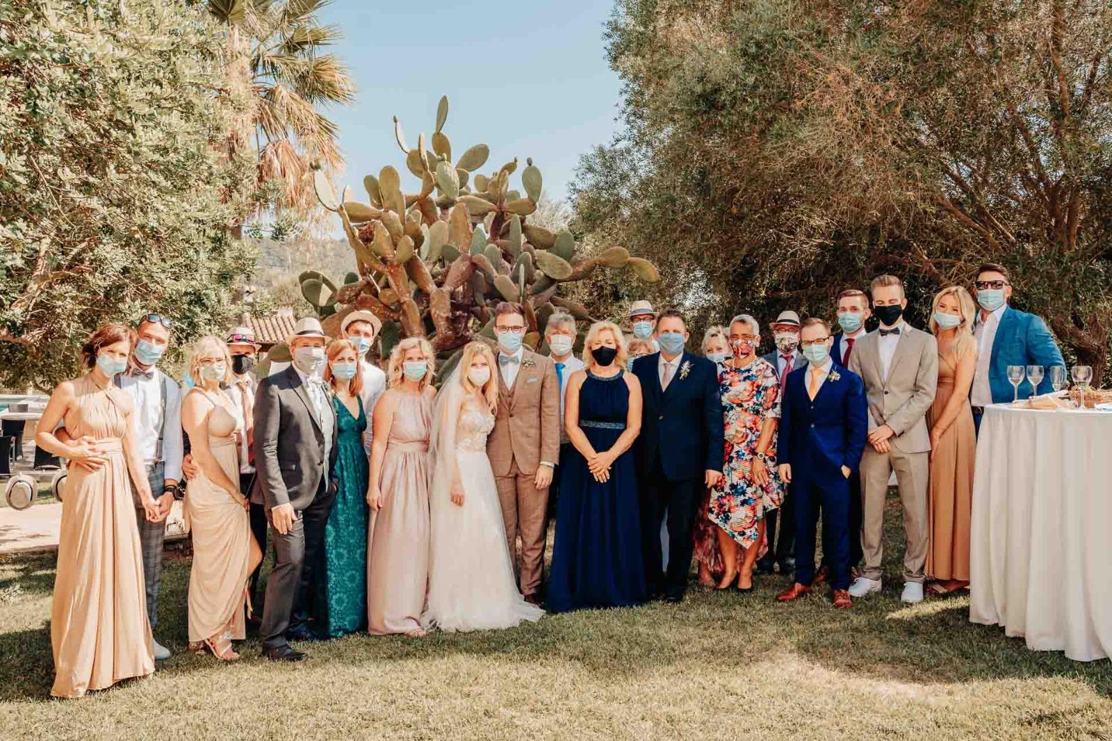 Hochzeit mit Maske auf Mallorca
